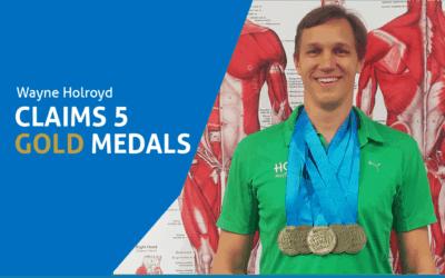 Wayne Claims 5 Gold Medals At World Master Games