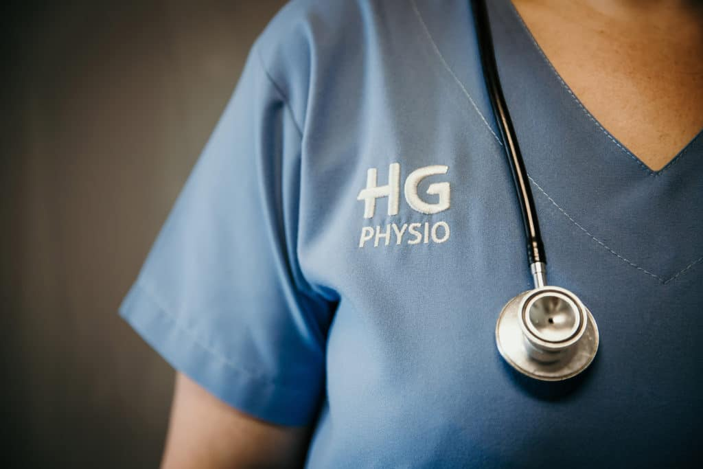 HG physiotherapist with stethoscope